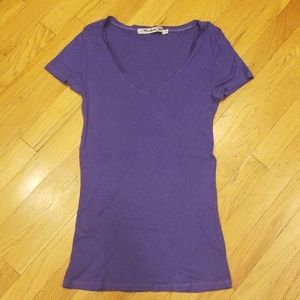 Michael Stars Purple V Neck T Shirt